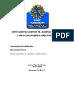 Informe de Practica de fundicion en Arena.docx