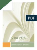 Diplomado Proyectos Presentacion Tema 3 - Estudio Técnico