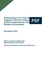 Programme for International Student Assessment Pisa 2012 National Report for England2