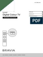 Sony Bravia KDL46HX800 Manual