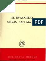 Schmid, Josef - El Evangelio Segun San Mateo