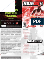 NBA2K11 PS3 Extended Manual