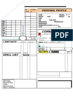 Rolemaster Character Sheet - non official