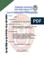 HIDROLIZADOS DE ALMIDÓN