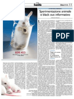 Sperimentazione Animale e Black Out Informativo