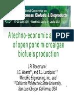A Techno-economic Analysis of Open Pond Microalgae