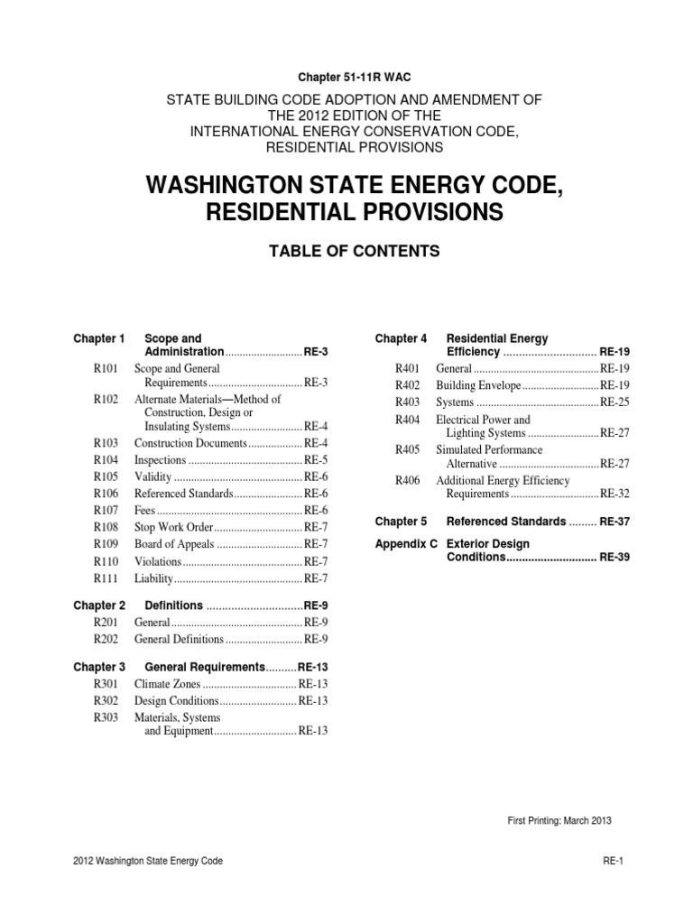 Washington State 2012 Residential Energy Code | Window | Building