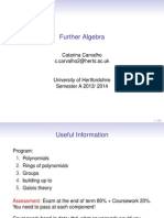 Further Algebra Lectures Notes
