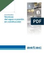 Tecnicas Del Agua a Presion en Construccion