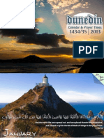 2013 Dunedin Prayer Timetable & Calendar