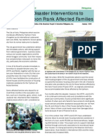 Philippines Disaster Relief - Progress Report January 2009