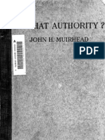 Muirhead - By What Authority - Critique of Poor Law Commission Reports, 1909