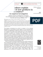 Culture and Acceptance of New Products