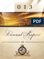 2013 Annual Report of the Kingdom Builders Association of America, Inc.