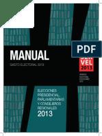 Manual Gasto Electoral 2013.