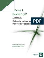 Lectura 1 Rol de la política económica y del sector agroalimentario