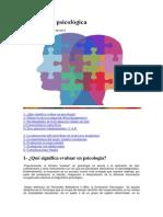 Evaluación psicodiagnóstica