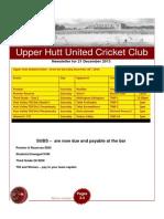 UHCC Cricket Newsletter 21 Dec, 2013 v2