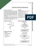 Datasheet LF412CN