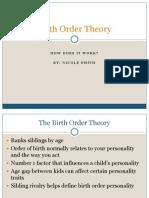 birth order theory