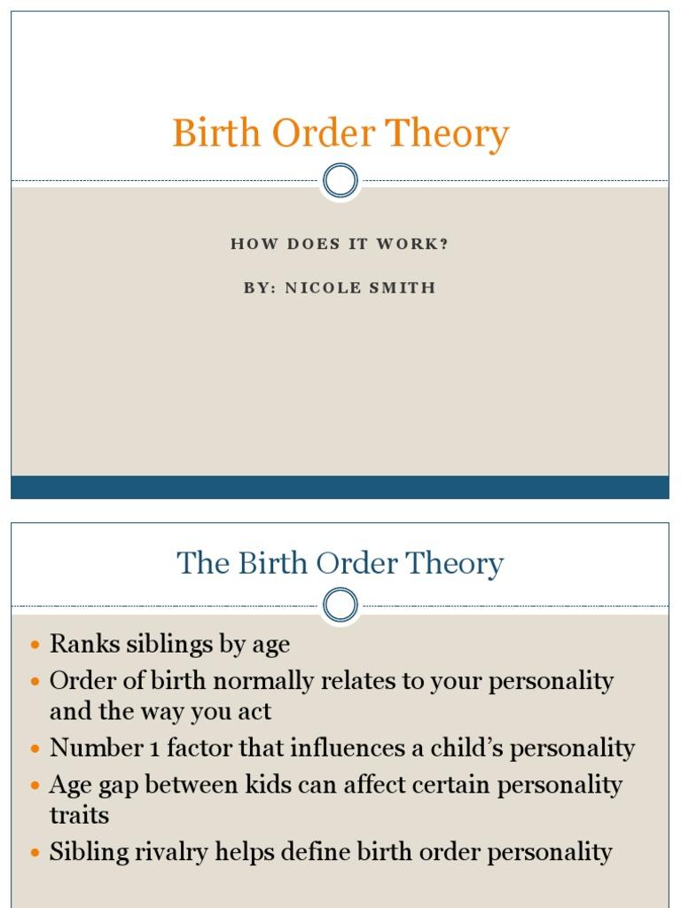 Birth order theory essay