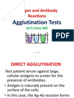 Antigen and Antibody Reactions Agglutination Tests