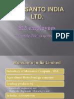 Monsanto India Ltd HR Practices
