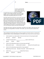 Earth Reading Comprehension