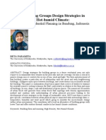 Building Groups Design Strategies in Hot -humid Climate:  A Dense Residential Planning in Bandung, Indonesia