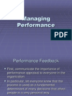 Managing Performance