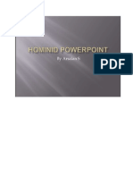 Hominids Evolution