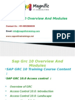 Sap Grc 10 Overview and Modules