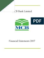 MCB - Standlaone Accounts 2007