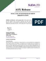 Suda Investor Presentation