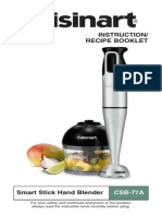 Cuisinart Stick Blender CSB77A Manual Recipe