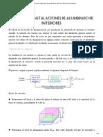 Cálculo de instalaciones de alumbrado de interiores. Manual de luminotecnia 2