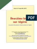 Tocqueville - Deuxieme Lettre Sur l Algerie