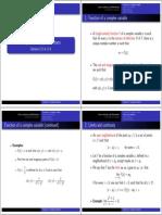 Complex Numbers 3 4 Handout 2x2