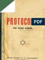 156135931 Urbain Gohier Protocoles Des Sages d Israel d Apres La Vieille France 1925