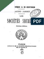 Jannet Claudio - Les Societes Secretes