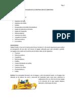 MAQUINARIA Y EQUIPOS UTILIZADO EN LA CONSTRUCCIÓN DE CARRETERAS