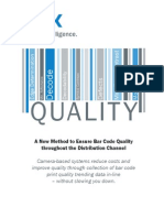 A New Method to Ensure Bar Code Quality