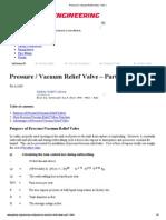 Pressure _ Vacuum Relief Valve - Part 1