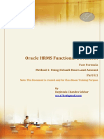 Fast Formula Method 1 Using Default Hours and Amount