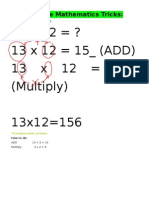 Simple Mathematics Tricks