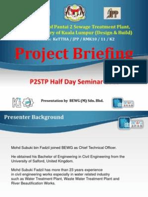 Project Briefing on Pantai 2 Sewage Treatment Plant | Sewage
