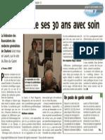 L'Avenir - La F.A.G.C. fête ses 30 ans avec soin - 19.12.13