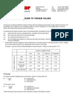 Norbar Torque Value Guide