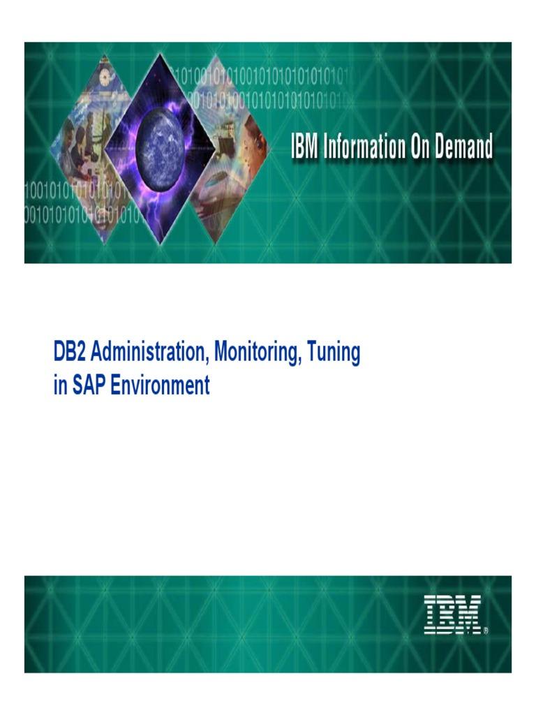 SAP DB2 on DB2 Administration   Database Index   Ibm Db2
