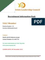 YALC 2014 Members Recruitment Pack